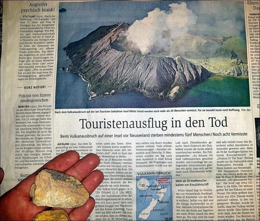 Vulkanausbruch auf Whakaari (White Island)